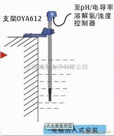 沉入式电极护套塑壳PH电极耐腐蚀防水安装支架PP1020-100