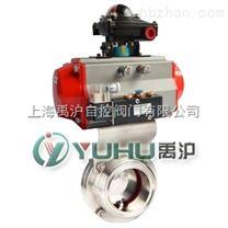 上海禹滬公司生產的D681F衛生級氣動蝶閥