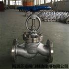 耐高温蒸汽导热油304/316不锈钢法兰截止阀