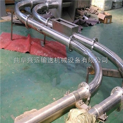 封闭式管链输送机 粉体颗粒管道运输机