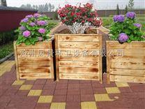 河北户外木质花箱 组合防腐木花盆