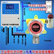 化工厂车间氢气浓度报警器,点型可燃气体探测器采用壁挂式安装方式