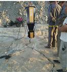 自贡岩石液压开裂棒静态分裂机现场考察效果