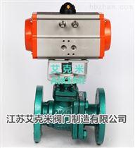 Q641F46-16C微型气动衬氟球阀