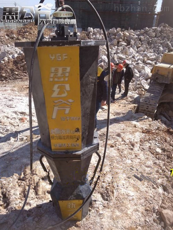 湖南省永州市修路岩石混凝土桥墩拆除分裂机工作效率