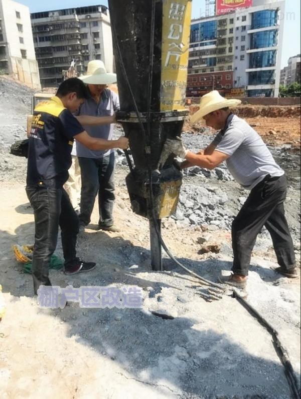 昭通市房屋建设土石方开挖静态劈石机施工效率快