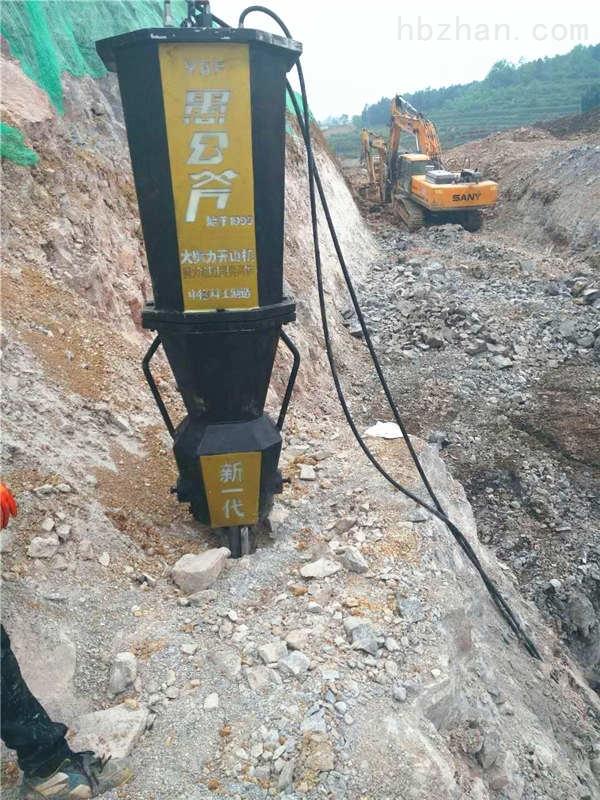 德宏盈江县地基花岗岩灰岩不放炮气体爆破开采正规开采机器