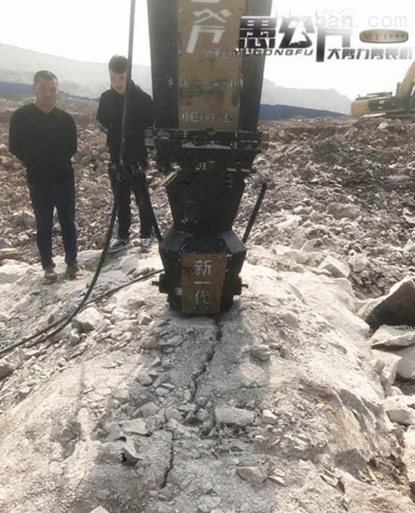 湖北黄冈水库挖石头不能放炮用静态裂石机用这个加快