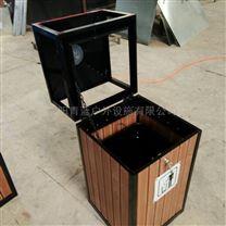 木条垃圾桶 单筒室内果皮箱 实木防腐垃圾箱