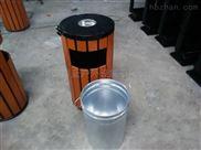 小区垃圾桶 防腐木质果皮箱 物业回收桶