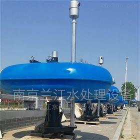 QFB2.2河道浮筒曝气机安装调试现场