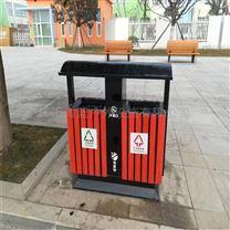 防腐垃圾桶 钢木景区垃圾箱 园林果壳箱