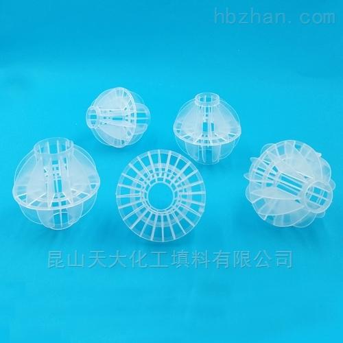 DN76多面空心球双通孔
