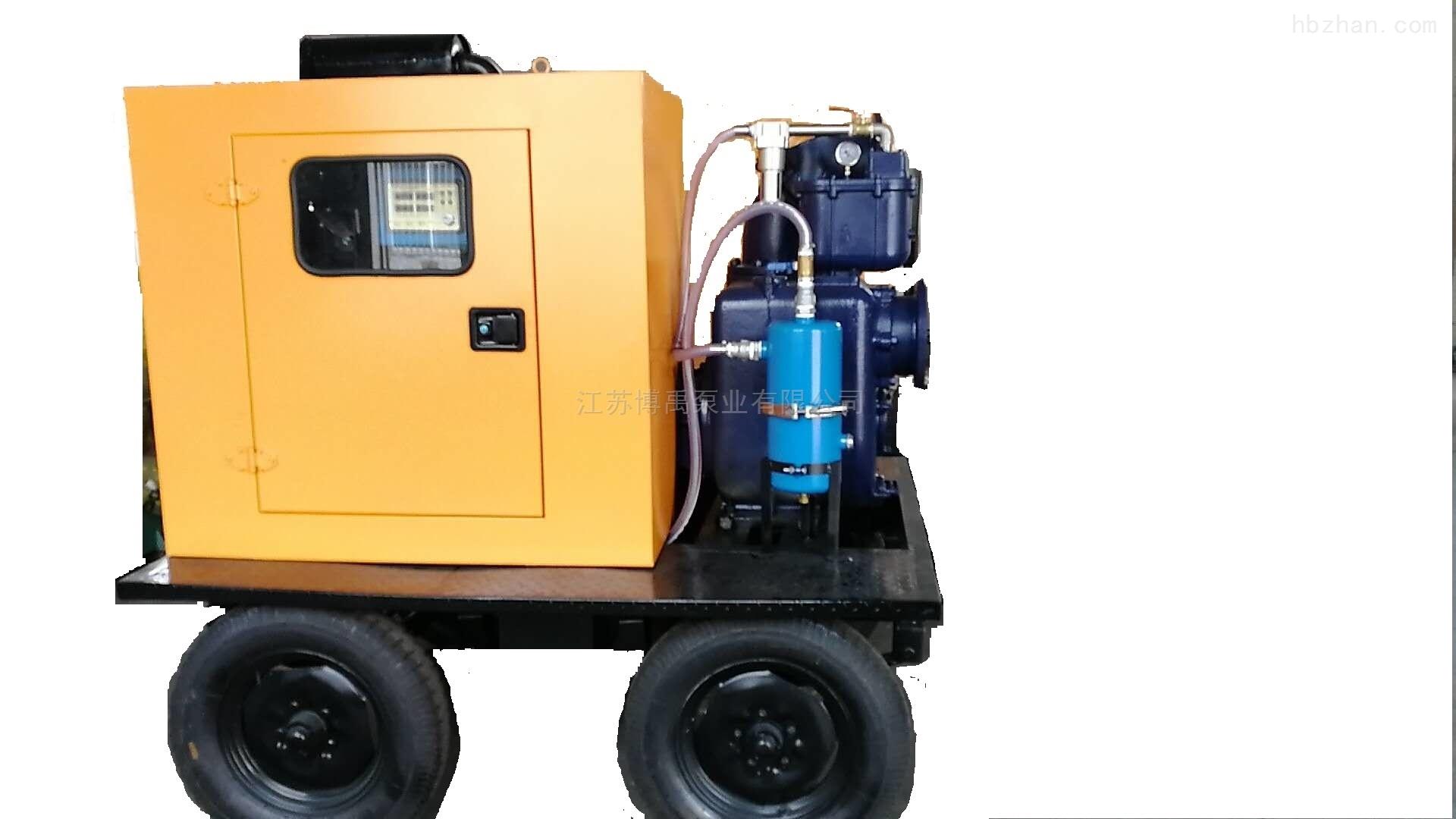 四轮拖车式移动抽水泵车