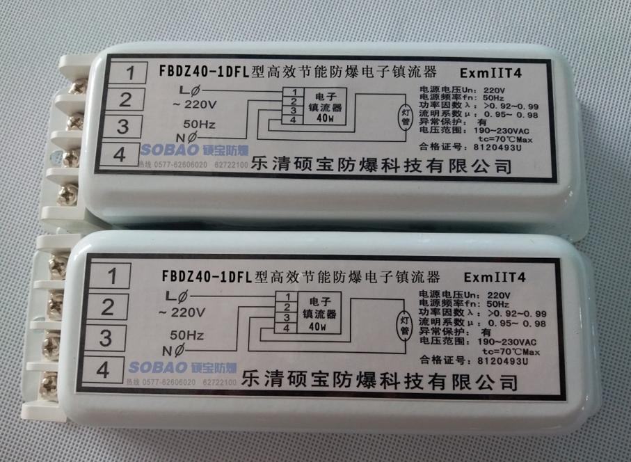 FBDZ20-1DFL高效节能防爆电子镇流器20W一拖一批发价