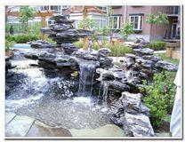 庭院鱼池假山制作方法