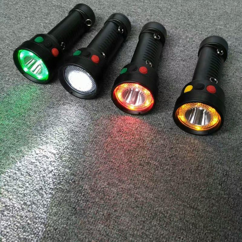 多功能袖珍信号灯ZL8001红黄绿白手电筒