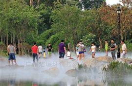 广西人工湖造雾