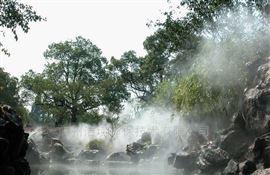 广西北海园林景观造雾