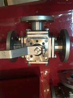 Q44F不銹鋼法蘭三通T型球閥