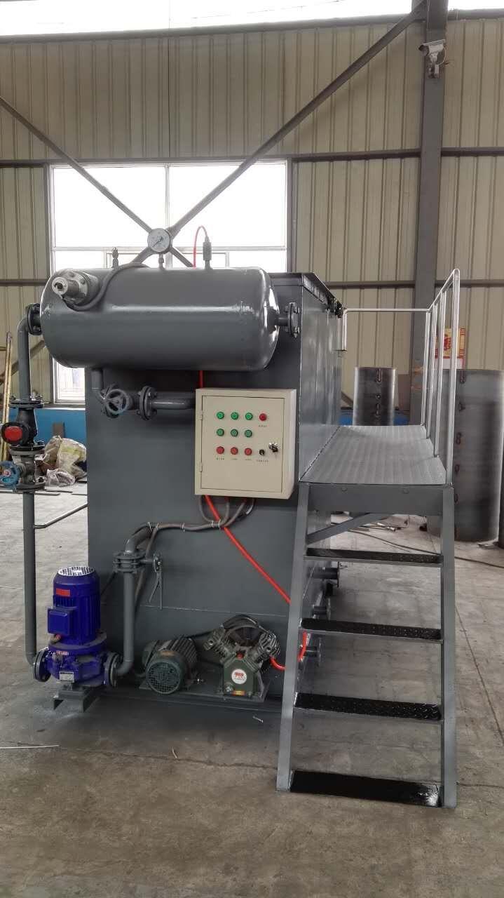 结构和原理  qfy系列超级溶气气浮污水处理机为钢制结构,其工作原理是