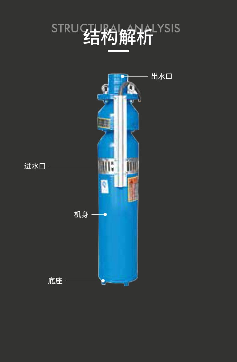 QS潜水泵结构图