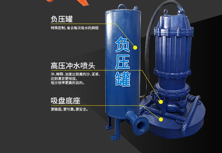 潜水抽沙泵结构图